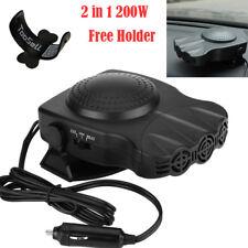 3 Port 2in1 Portable Car Heater Cooling Heating Fan Defroster Demister + Holder