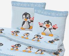 Bettwäsche 135x200 cm Pinguin blau 47953 BIBER