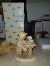 """Memories of Yesterday """"Dear Santa..."""" New 115002 little girl with puppy at desk"""
