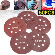 5'' 125MM 8 Bores Basecut Grit Hook Loop Sanding Disc Orbital Sandpaper Sheet