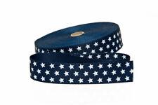 1 m Gurtband in blau mit weißen Sternen  20 mm Stern Taschenhenkel Henkel