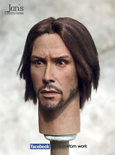 """1/6 Hot Custom Repaint & Rehair Keanu Reeves toys figure head sculpt 12"""" matrix"""
