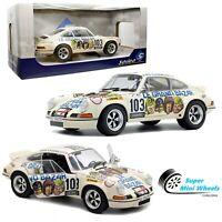 Solido 1:18 - 1973 Porsche 911 RSR Le Grand Bazar #103 (Cream) - Diecast Model