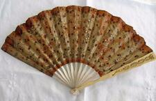 ANTIQUE EDWARDIAN PAPER, NET & WOOD ADVERTISING FAN - ARMENONVILLE CAFE DE PARIS