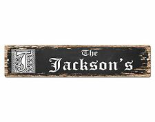 SP0455 The JACKSON'S Family name Plate Sign Bar Store Cafe Home Chic Decor