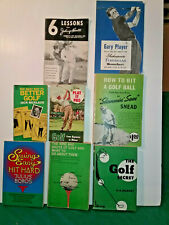 Vintage Golf Instructional Books By Various Golf Pro's Legends 8 - Books