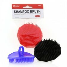 ANNIE PALM SHAMPOO BRUSH WITH HANDLE #2920 SCALP MASSAGE ASSORTED COLOR