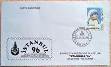 Albania 1996. Mother Teresa. Philatelic Exhibition Istanbul Turkey. Official FDC