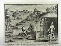 Bernard Picart (1673-1733) - South AMERICA: Burial custom of the Brazilians 1727