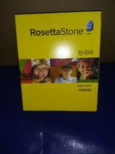 Rosetta Stone Korean Levels 1,2,3 Good Condition MISSING AUDIO COMPANION UNIT 1