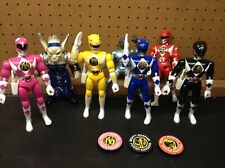 Mighty Morphin Power Rangers Karate Action Rangers Plus Two Bad Guys 1994 Bandai
