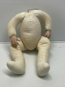 Porcelain Doll Parts Stuffed ARTICULATED WEIGHTED BABY DOLL BODY for 14""