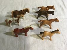 Lot 14: Playmobil Farm Animals 7 Ponies and Foals - Gently Used