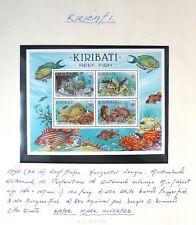 KIRIBATI 1985 Reef Fishes M/Sheet MS236w Inverted/WMK Error Variety U/M NC1325