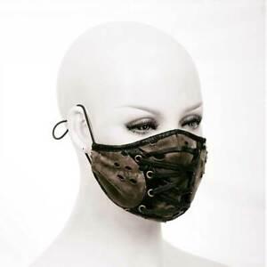 DEVIL FASHION Gothic Wasteland Maske Mund-Nasen-Schutz Mad Max Schnürung PUNK