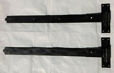 Pair of Heavy duty hook and band gate hinges, black, 30'', new, unused