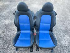 MITSUBISHI COLT CZC CZCT - FRONT & REAR BLACK & BLUE FULL LEATHER SEATS