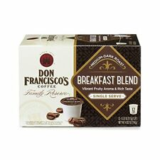 Don Francisco's Breakfast Blend K-cups Single Serve Medium-Dark Roast 12 Pods