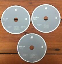 2004 Macintosh Mac iBook G4 Mac OS X 10.3.4 Panther Software Install Discs CDs