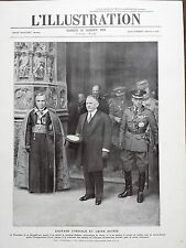 L' ILLUSTRATION 1924 N 4245 ENTENTE CORDIALE ET UNION SACREE