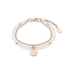 s.Oliver Damen Armband 2015062 mehrreihig aus Edelstahl rosegold