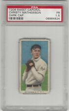 1909-1911 T206 Christy Mathewson NY Giants Dark Cap Sweet Caporal PSA 1.5 Fair