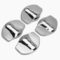 4x Car Door Lock Protective Covers Trim Stainless Steel For Tesla Model 3 17-19