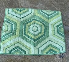 THE COMPANY STORE STANDARD PILLOW SHAMS QUILTED Geometric Green