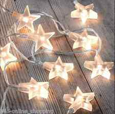 Star Fairy Lights 30 Warm White LED Indoor Bedroom Christmas String Lights Home