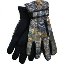 Mens Forest Camo Fleece Insulated R40 Fishing Thermal Gripper Palm Gloves
