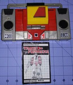 Transformer G1 Blaster Vintage '84 W/instructions TakaraHasbro Working Tape deck
