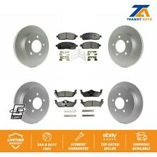 Front Rear Brake GCR Coated Disc Rotors And TEC Ceramic Pads Kit 2004 Ford F-150