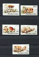S12263) Guinea MNH New 1977, Mushrooms 5v Imperforated Y&t 576/80
