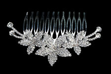 Wedding  Bridal  flower Rhinestones Diamante Hair Comb Pin Clip HOT HA010-06