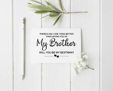 Best Man Proposal Card For Brother