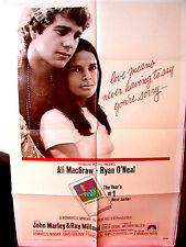 Love Story 1970 Fine-Exc. Orig.US 27x41 movie poster Ryan O'Neal Ali MacGraw
