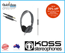 Koss KPH30 Lightweight White Headphones Balanced Sound inline Control