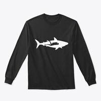 Scuba Diver With Shark Product Great Gildan Long Sleeve Tee T-Shirt
