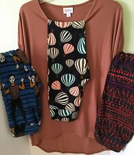 NEW Lularoe LOT - Solid Small Irma + 3 Pairs One Size Leggings