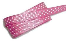 "5 yards Hot pink polka dot print 3/8"" grosgrain ribbon by the yard DIY"