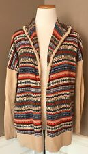 Hanna Andersson XS Open Hooded Cardigan Sweater