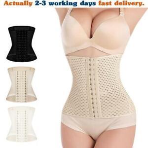 Slimming Body Waist Shaper Training Trainer Tummy Cincher Girdle Corset Beige XL
