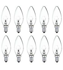 10x Candle Light Bulbs 40w Lamps Small Screw SES E14 Clear