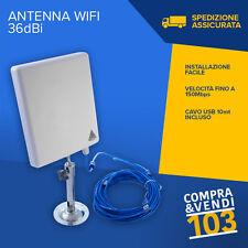 Antenna ricevitore USB wifi esterno 36dbi Amplificatore wireless impermeabile