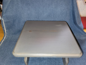 """*NEW*Handmade Stained Classic Gray/Varnished Footstool! Size 12""""W X6 1/2H"""" X11""""D"""