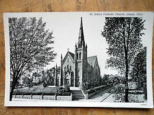 St Johns Catholic Church Logan Ohio OH 1940s