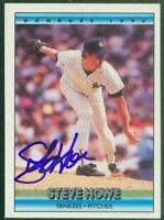 Original Autograph of Steve Howe of the New York Yankees on a 1992 Donruss Card