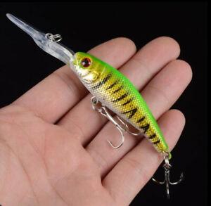 1PCS Crankbait Fishing Lures Long Minnow Wobblers Swimbait Hard Bait Fish Tackle