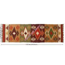 Area Rug Carpet Kilim Hand Woven Floor Runner Bed Side Rugs Wool Jute Dhurrie