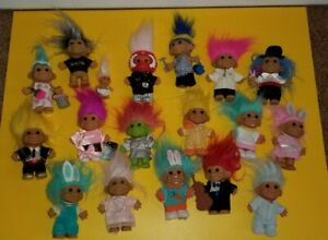 Russ Troll Dolls mixed lot 18 race car driver Rare  Easter Bunny more rare ones